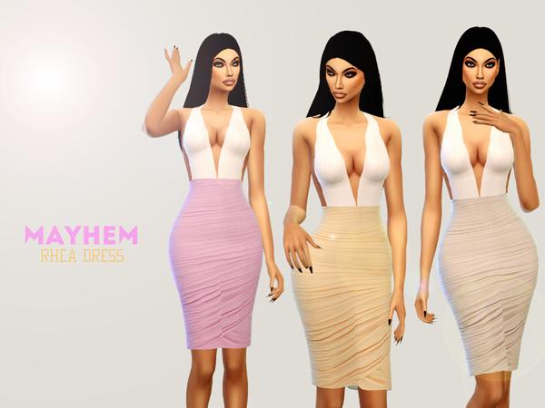 Rhea Dress by NataliMayhem at TSR image 1914 Sims 4 Updates