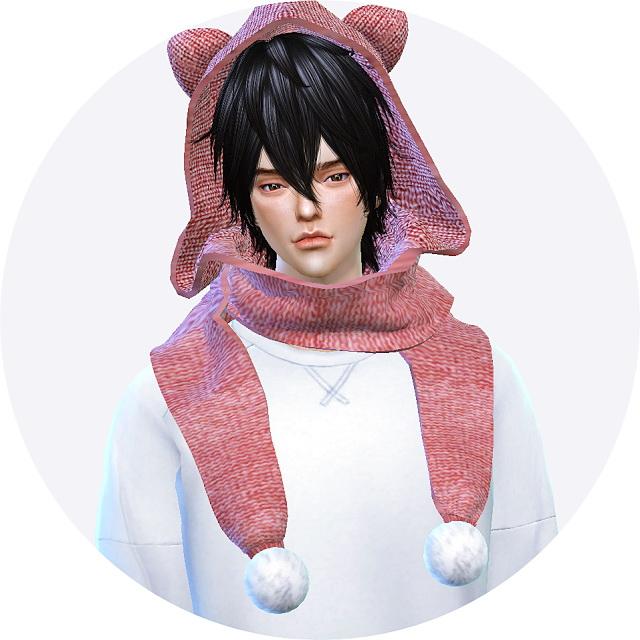 Sims 4 Cat hood scarf at Marigold