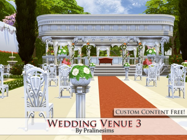 Sims 4 Wedding Venue 3 by Pralinesims at TSR