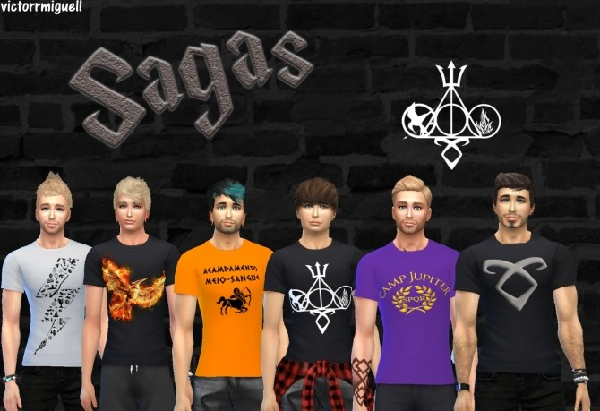 Movie posters and tees at Victor Miguel image 19611 670x459 Sims 4 Updates
