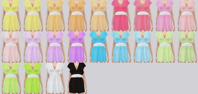 Sims 4 Bohemian dress at Kalewa a