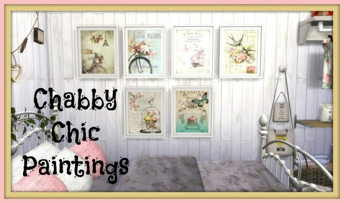 Shabby Chic Paintings at Dinha Gamer image 19810 670x396 Sims 4 Updates