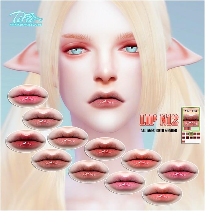 Sims 4 Lips N12 at Tifa Sims