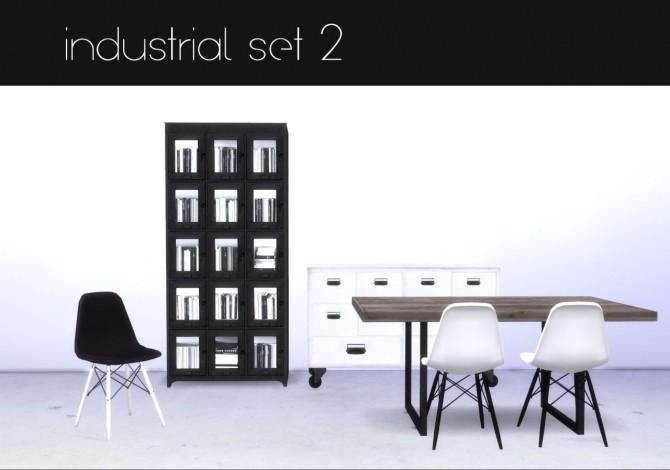 Sims 4 Industrial set 2 at Hvikis