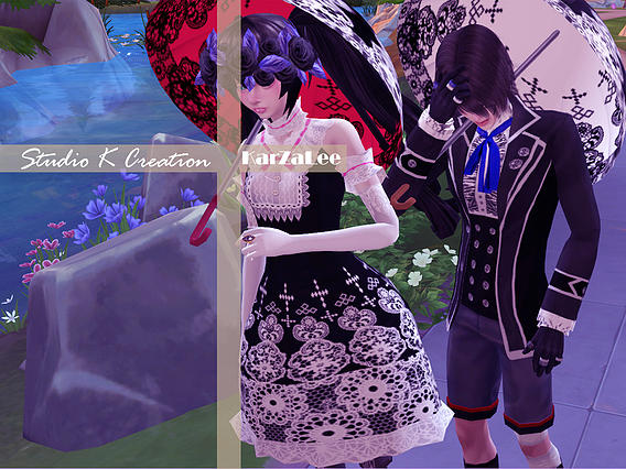 Bloody Lilith Lolita outfit at Studio K Creation image 20413 Sims 4 Updates