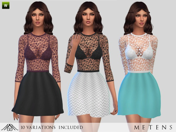 Sims 4 Valentine dress by Metens at TSR