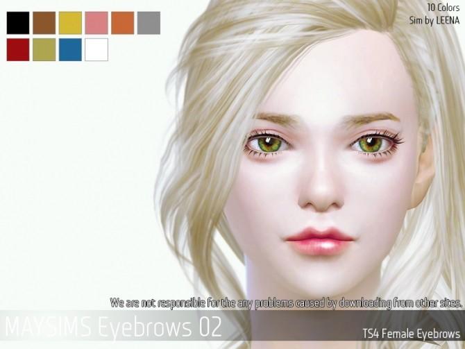 Sims 4 Eyebrows 02 at May Sims