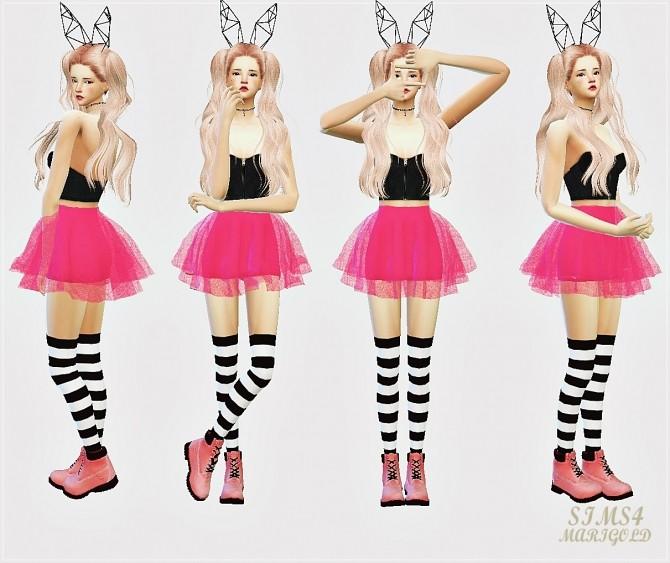 Voluminous Ballerina Mini Skirt V1 At Marigold 187 Sims 4