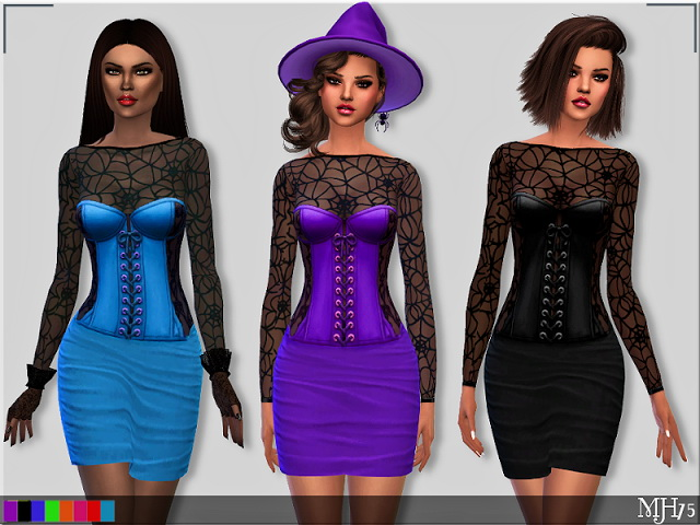 Sims 4 Spooks Dress by Margie at Sims Addictions