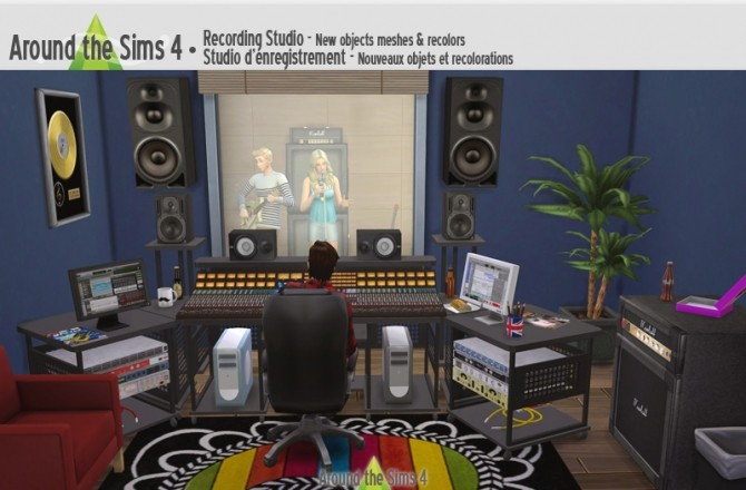 Sims 4 Recording Studio by Sandy at Around the Sims 4