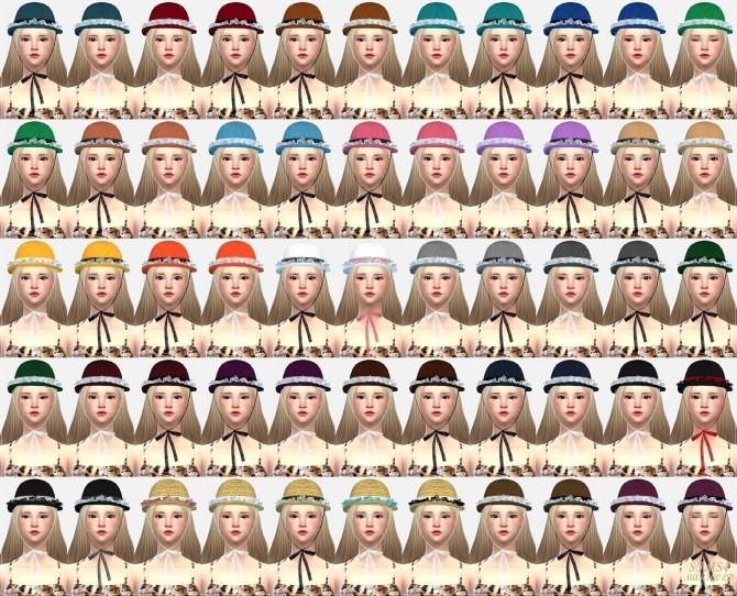 Sims 4 Lace frill hat bowler at Marigold