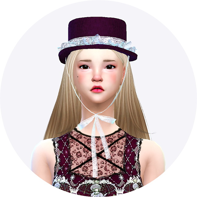 Lace frill hat boater at Marigold image 21015 Sims 4 Updates