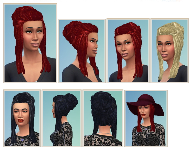Sims 4 RastaBun hair at Birksches Sims Blog