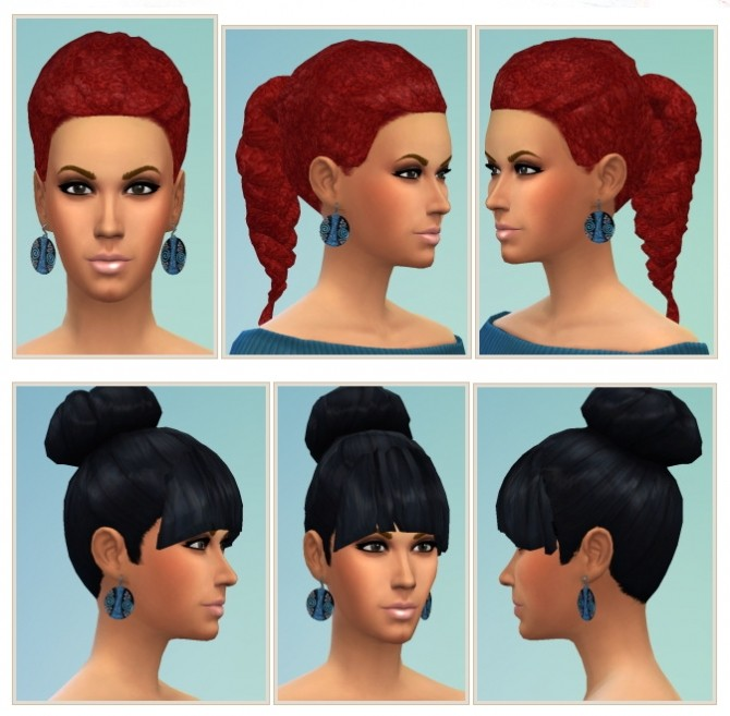 Sims 4 Afro Braid & Bun and Bangs at Birksches Sims Blog