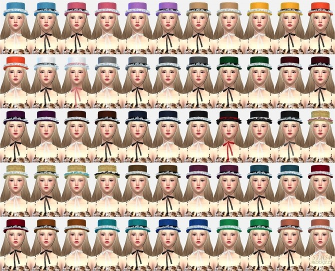 Lace frill hat boater at Marigold image 21215 670x542 Sims 4 Updates