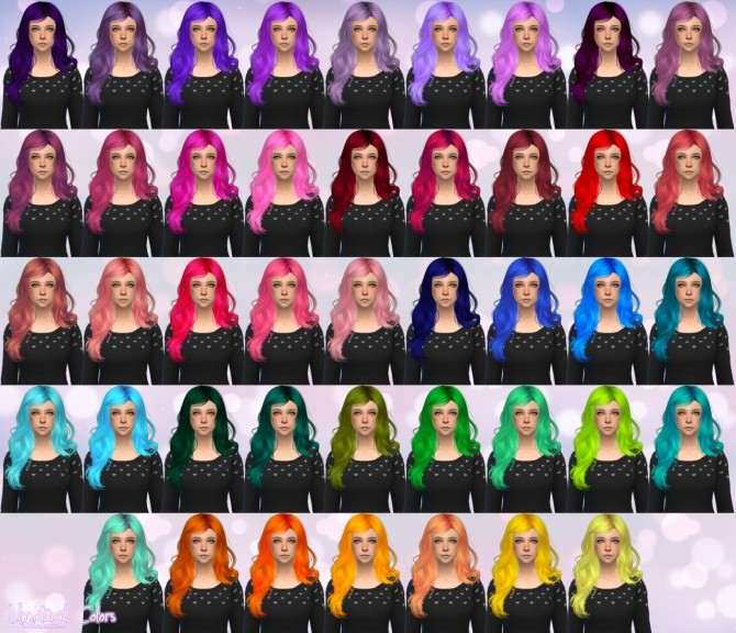 Sims 4 Newsea Color of Wind Hair Retexture at Aveira Sims 4