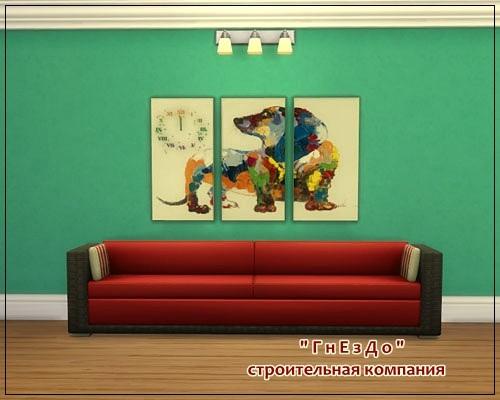 Sims 4 Dog paintings at Sims by Mulena