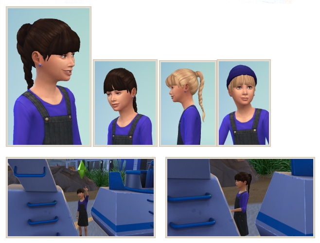 Sims 4 Braided Ponytail at Birksches Sims Blog