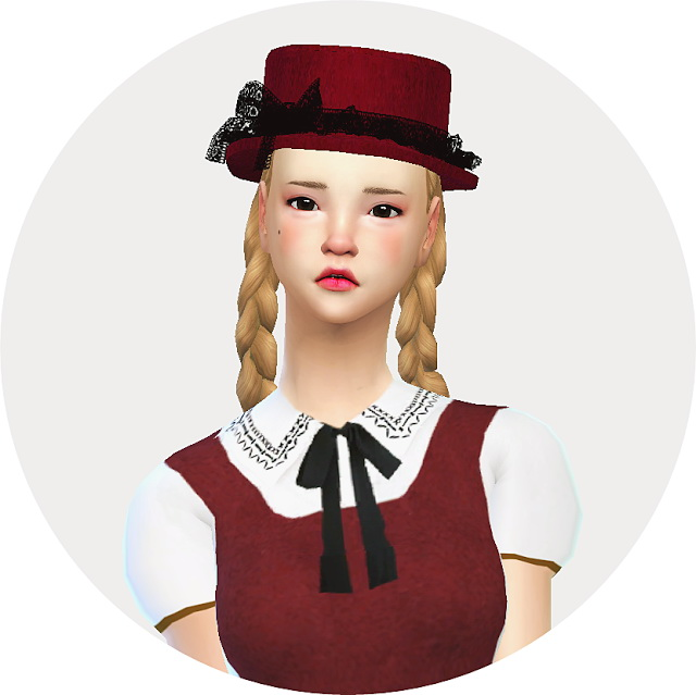 Lace frill hat boater at Marigold image 21314 Sims 4 Updates