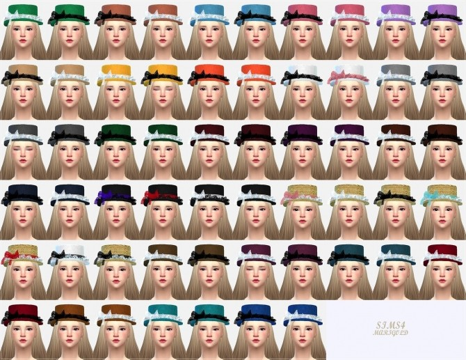 Lace frill hat boater at Marigold image 21413 670x517 Sims 4 Updates