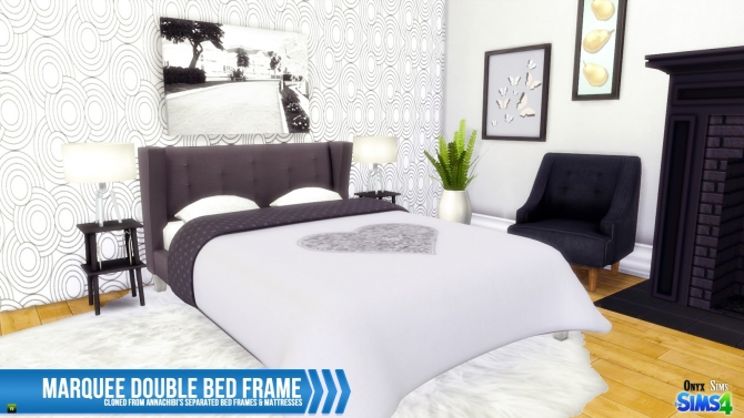 Marquee Double Bed Frame At Onyx Sims 187 Sims 4 Updates