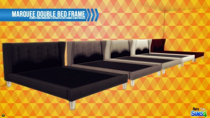 Marquee double bed frame at onyx sims sims 4 updates