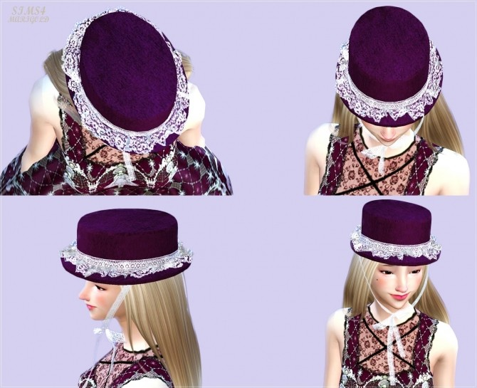 Lace frill hat boater at Marigold image 21612 670x545 Sims 4 Updates