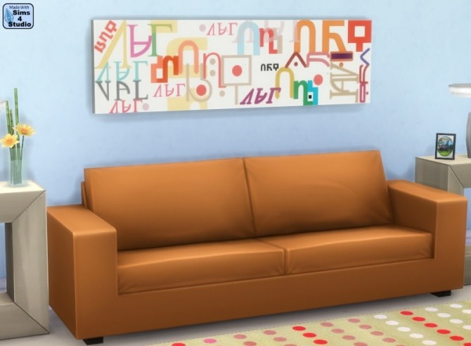 Sims 4 Modern Simlish paintings by OM at Sims 4 Studio