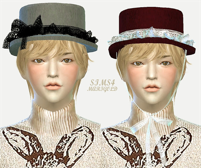 Lace frill hat boater at Marigold image 21712 Sims 4 Updates
