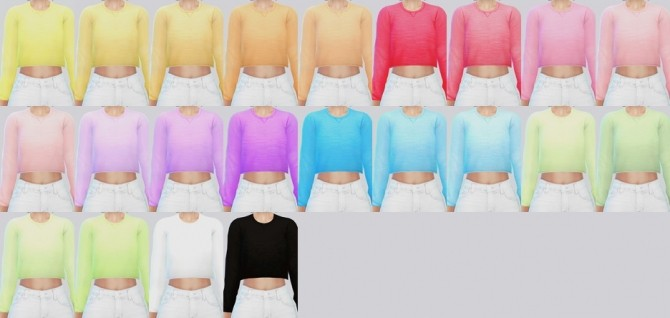 Cropped Sweater At Kalewa A 187 Sims 4 Updates
