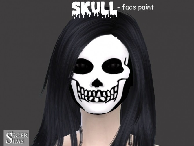 Skull face paint at Seger Sims image 2188 670x503 Sims 4 Updates