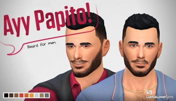 Sims 4 Ayy Papito beard at LumiaLover Sims