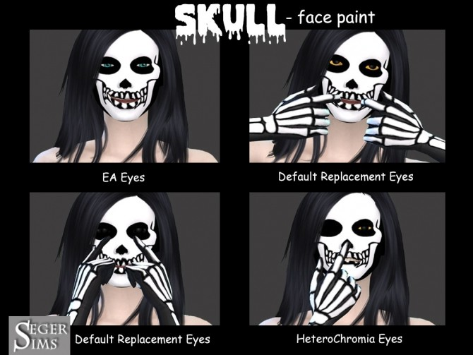 Skull face paint at Seger Sims image 2199 670x503 Sims 4 Updates