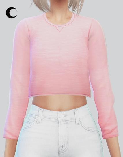Cropped Sweater At Kalewa A 187 Sims 4 Updates