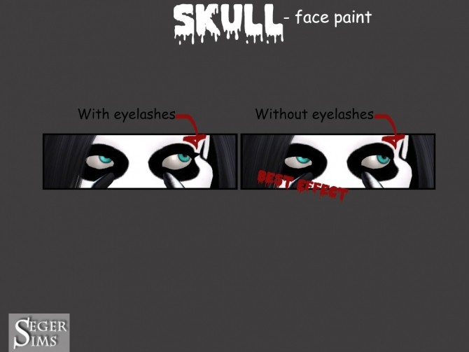 Skull face paint at Seger Sims image 2208 670x503 Sims 4 Updates