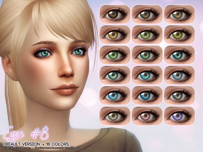 Eyes 8 Default Version At Aveira Sims 4 187 Sims 4 Updates