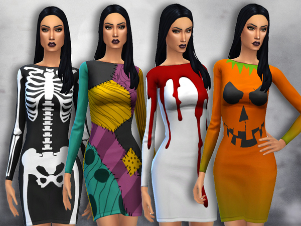 Sims 4 Mortem Dress by Sentate at TSR