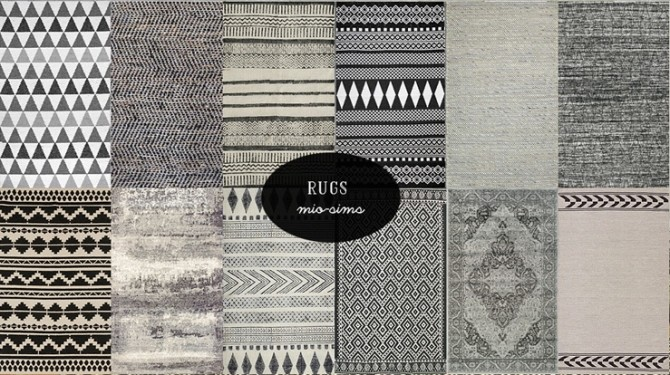 Sims 4 Cassandre rug recolors at MIO
