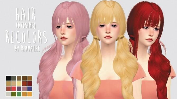Sims 4 Hair Recolors David Sims at Rinvalee
