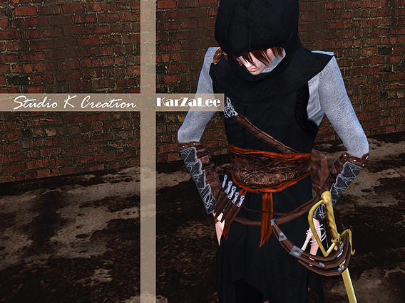 Sims 4 Assassins Creed Altaïr full outfit at Studio K Creation