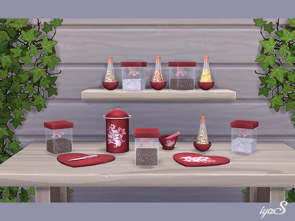 Sims 4 Olivia Cookware set by soloriya at TSR