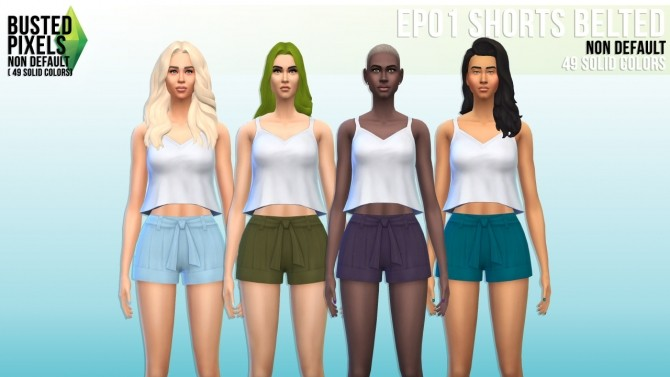 Sims 4 EP01 Belted shorts at Busted Pixels