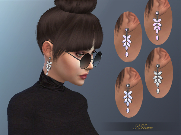 Crystals Earrings by S4Grace at TSR image 2336 Sims 4 Updates