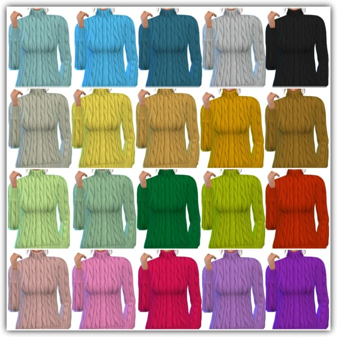 Sims 4 My cozy sweater 20 colors at Maimouth Sims4