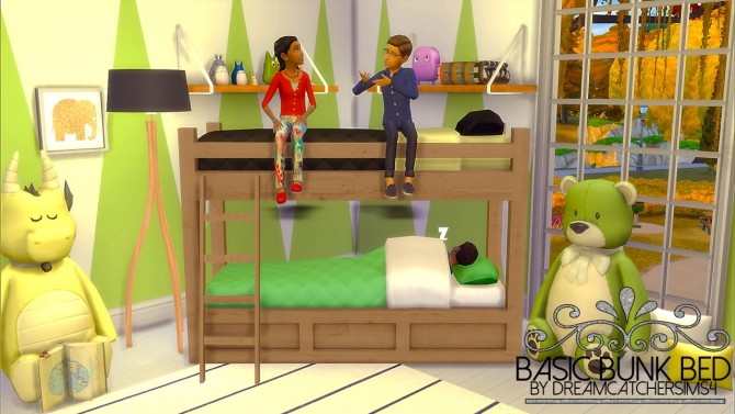 Sims 4 Basic Bunk Bed   Frame Only at DreamCatcherSims4