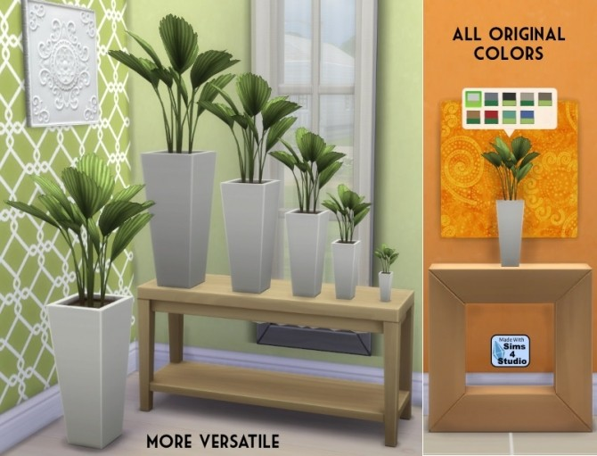 Sims 4 Smaller Vaaas Palm by OM at Sims 4 Studio