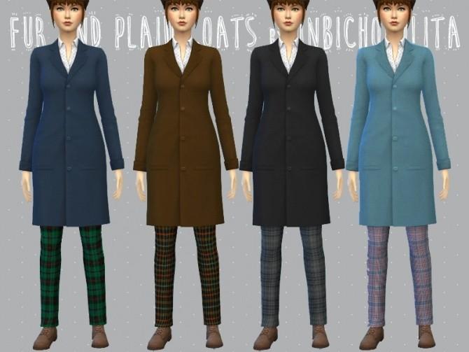 Sims 4 Fur and plaid coats at Un bichobolita