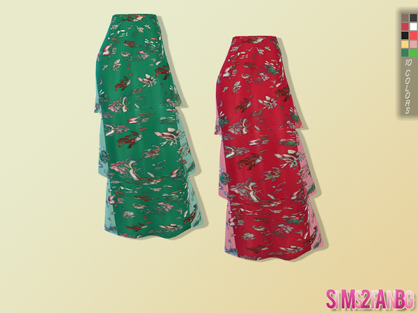 91 Layer long skirt by sims2fanbg at TSR image 2429 Sims 4 Updates