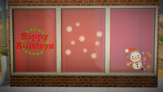 Sims 4 Window Stickers pack 3 at Budgie2budgie