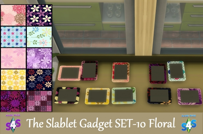 10 Floral Slablet Gadget Set By Wendy35pearly At Mod The